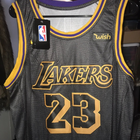 online store 22732 97b2e LeBron James black laker jersey